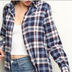New Brandy Melville Wylie Plaid Flannel Shirt vsco